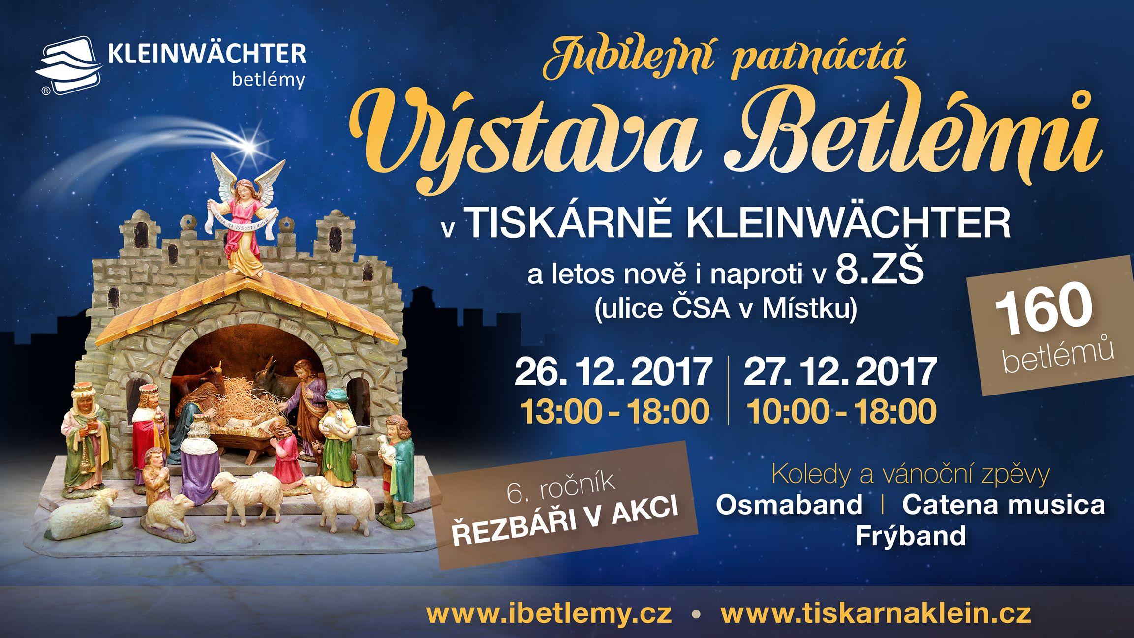 2441fd9d811 Frýdek-Místek - Tiskárna Kleinwächter zve ve dnech 26. a 27. prosince na  již 15. výstavu betlémů. Jubilejní expozice nabídne celkem 160 jesliček ze  sbírky ...